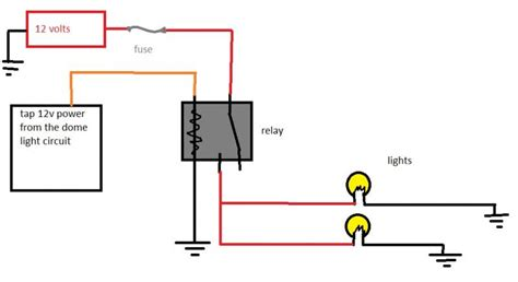 4 pin relay wiring diagram lights style by