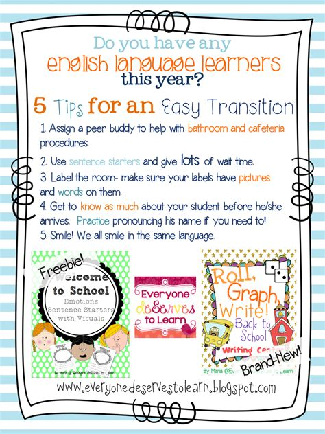 esl students back to school with english language learners everyone