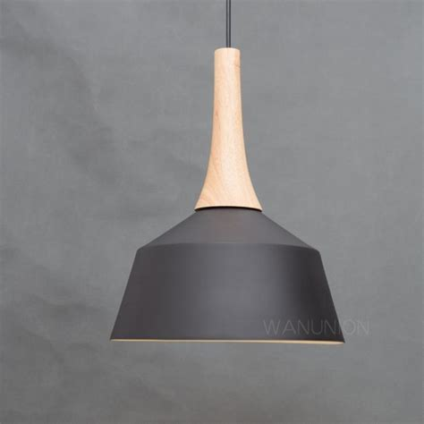 Modern Black Pendant Lights Ls Fixtures Wooden Ceiling Metal Light Fixture