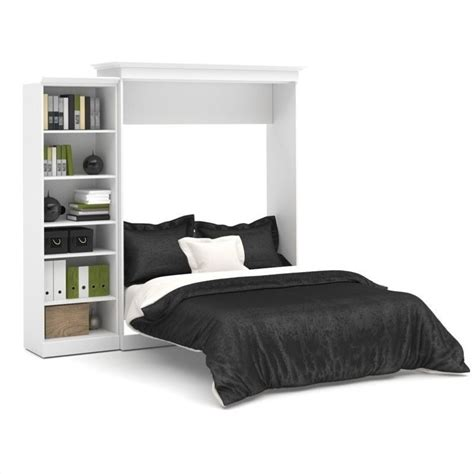 wall unit beds bestar versatile 92 queen wall bed with storage unit in