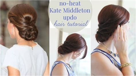 updo hairstyles no heat 222 best makeup and hair video tutorials images on