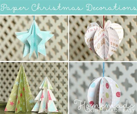 christmas decorations to make at home for free paper christmas decorations