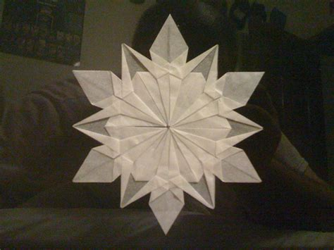 Origami Paper Snowflake - snow flake make handmade crochet craft