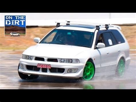 mitsubishi galant vr4 wagon mitsubishi galant vr4 wagon skidpan youtube