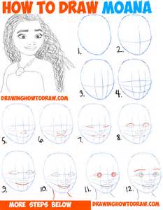 How To Draw A Step By Step Easy How To Draw Moana Easy Step By Step Drawing Tutorial For