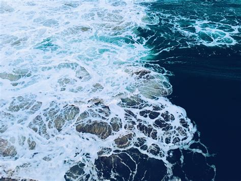the sea close by close up of sea foam 183 free stock photo