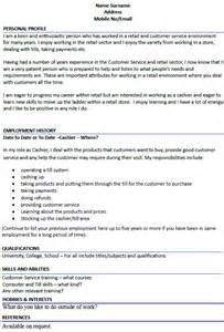 cashier cv example cover letters and cv examples