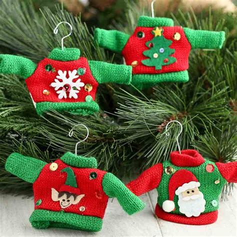 knitted ugly christmas sweater ornament what s new