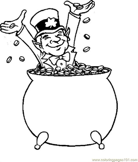 printable coloring pages leprechaun coloring pages leprechaun with gold 1 holidays gt st