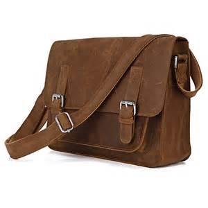 leather bag 7089b leather s brown document messenger across bag messenger men s leather