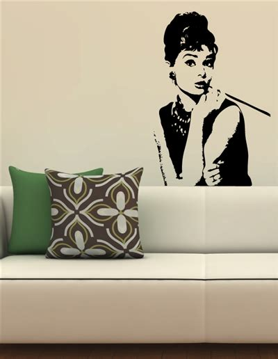wall tat audrey hepburn wall decals walltat