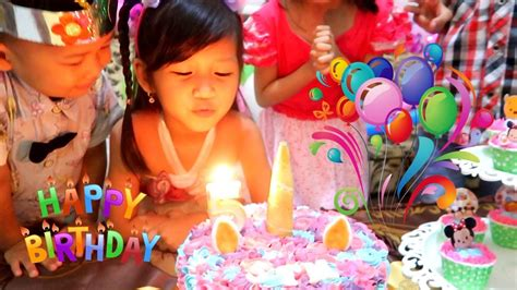 selamat ulang  hana   surprise cake birthday potong kue ulang   rumahhappy