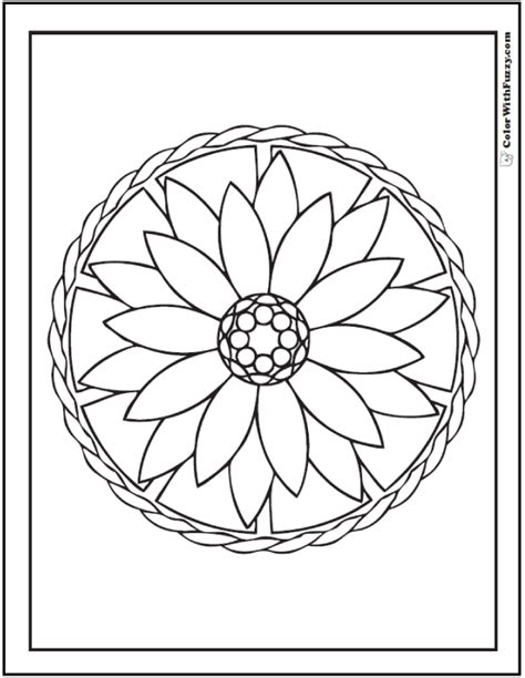Geometric Coloring Pages For Children Geometric Flower Coloring Pages