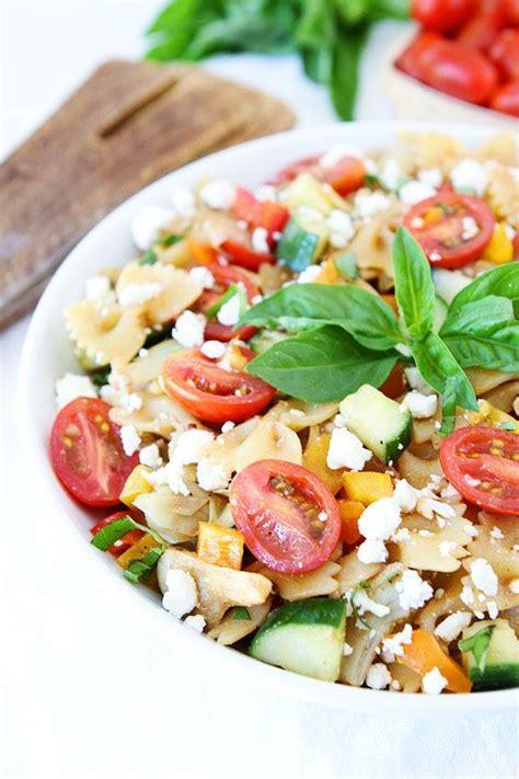 pasta salad recipe easy easy summer pasta salad recipe on twopeasandtheirpo the