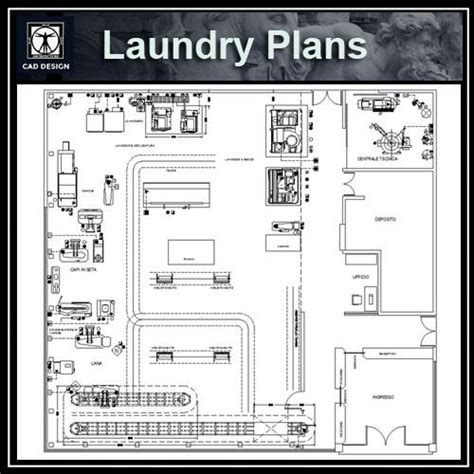 Hospital Laundry Layout Plan Cad Dwg | laundry plans cad design free cad blocks drawings details