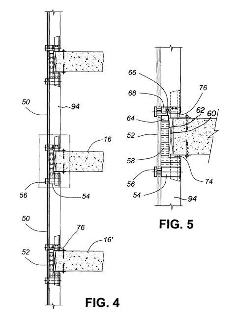 curtain wall installation method patent us7644549 hybrid window wall curtain wall system