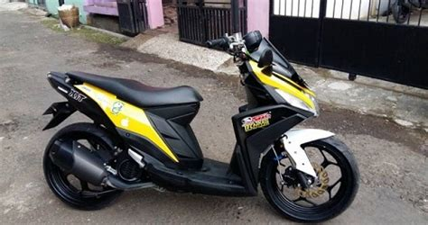 modifikasi motor yamaha mio   gaya nmax modifikasi