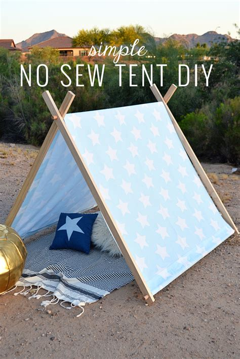how to build a tent simple no sew kid s tent diy momma society