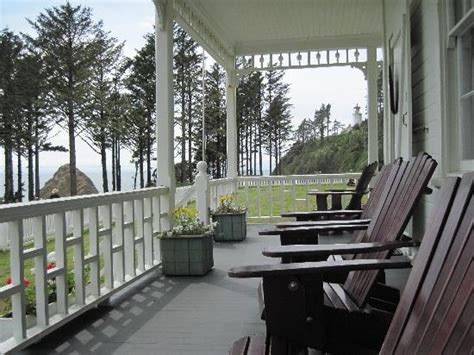 lighthouse bed and breakfast the front porch with the adirondack chairs picture of