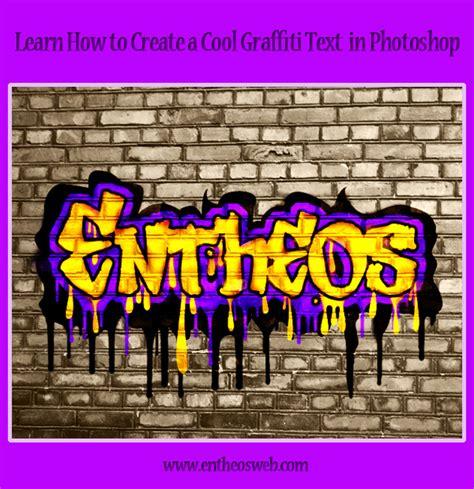 Tutorial Graffiti Photoshop Cs5 | create a cool graffiti text in photoshop entheos