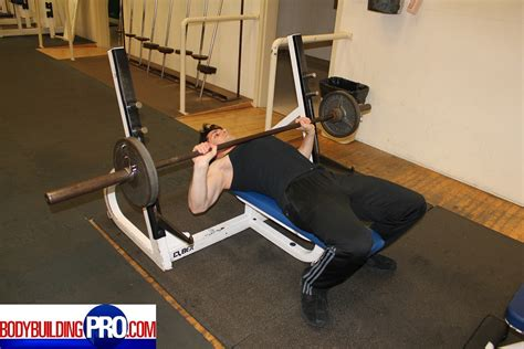 flat bench press exercise barbell flat press