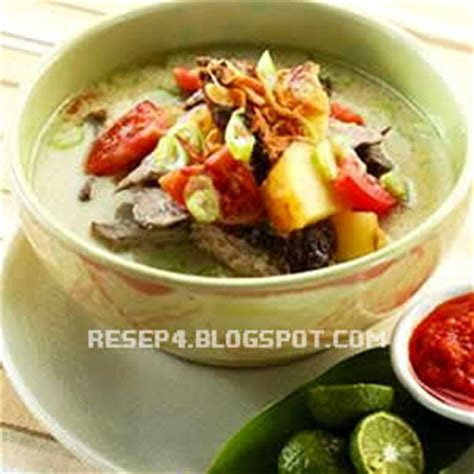 alat dan bahan membuat soto ayam resep soto daging sapi enak resep masakan 4