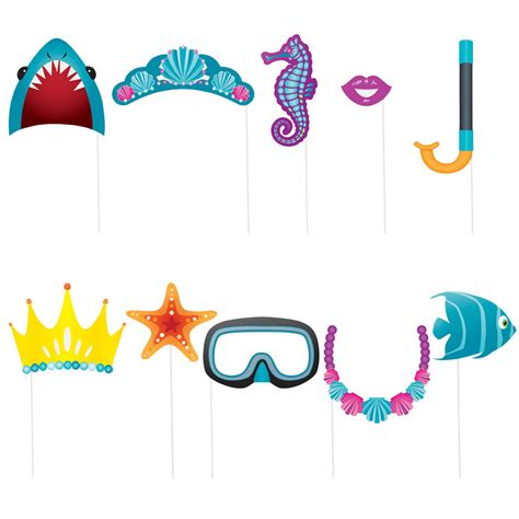free printable under the sea photo booth props under the sea party photo props under the sea party