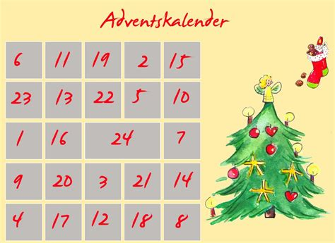 Kostenlose Vorlage Adventskalender winter archives familothek