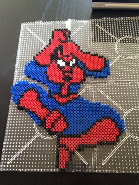spiderman bead pattern 17 best images about spiderman perlers on pinterest