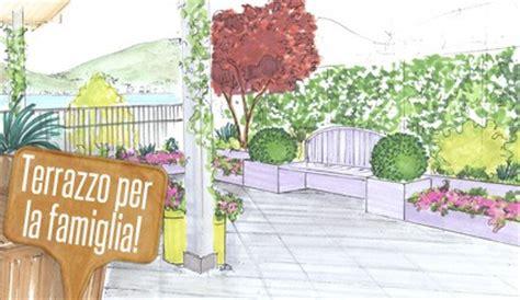 terrazzi fioriti progetti progetti di giardino terrazzo fiorito a misura di