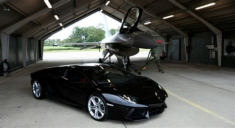 Lamborghini Vs F16 Lamborghini Aventador Vs F16 Fighting Halcon