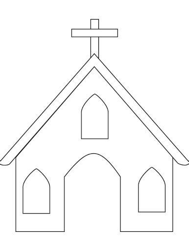Church Building Template Dibujos De Iglesias Para Colorear