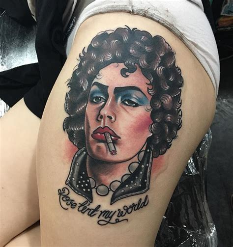 rocky horror tattoo tim curry from rocky horror picture show thankyou so much