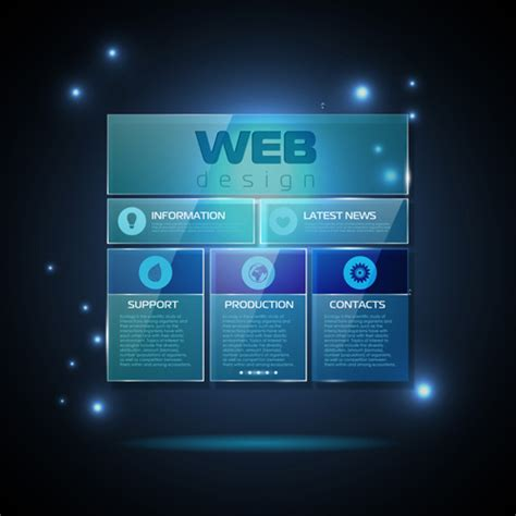 Blue Web Infographics Template Design Vector 03 Over Millions Vectors Stock Photos Hd 3d Web Design Templates Free