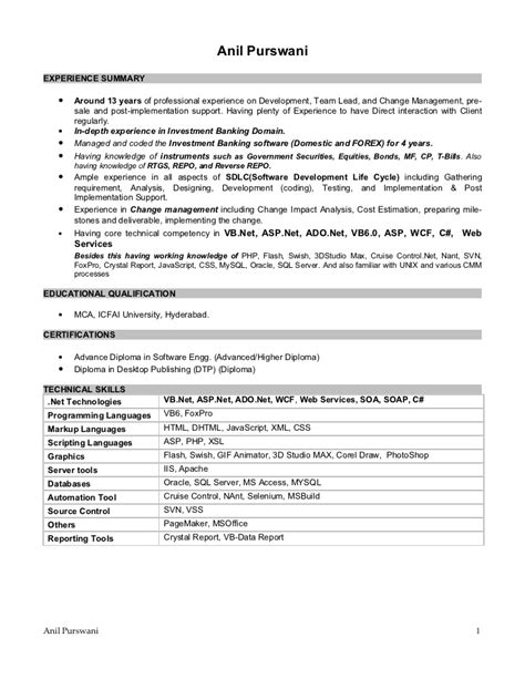 Sle Resume For Technical Support Analyst Business Analyst Resume Sles Sle 18 Images Design