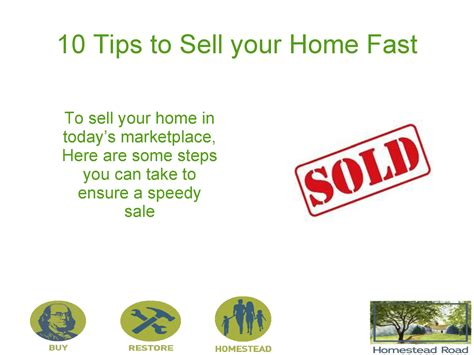 ways to sell your house fast 10 easy ways to sell your house faster for authorstream