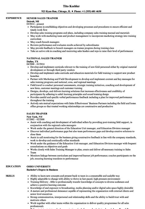 sle trainer resume excellent corporate sales trainer resume pictures