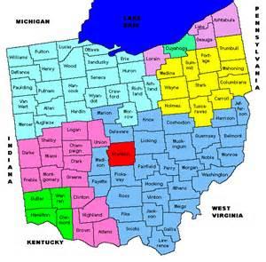 Ohio Area Codes Map by Ohio Area Codes