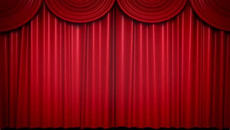 stage curtain names high definition clip of an opening red stage curtain