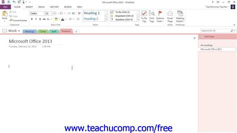 onenote windows 10 tutorial onenote 2013 tutorial creating a basic note microsoft