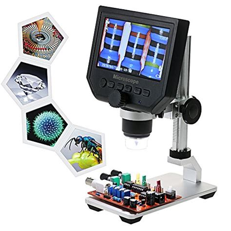 Portable Rechargeable Lcd Digital Microscope 600x Hd 3 6mp Micro Sd kkmoon 600x 4 3 lcd display 3 6mp electronic digital