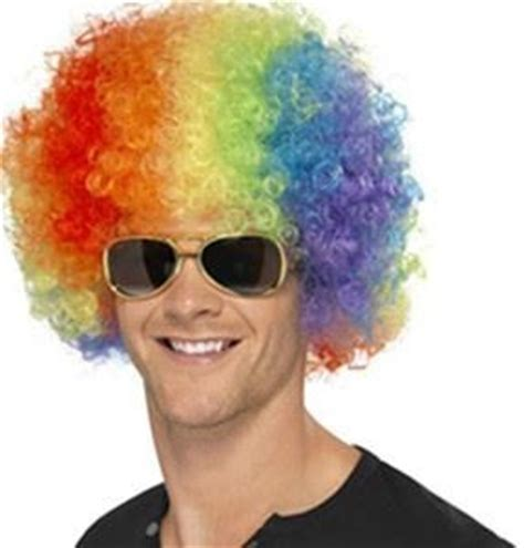 colored afro multi colored afro wigs disco theme supplies