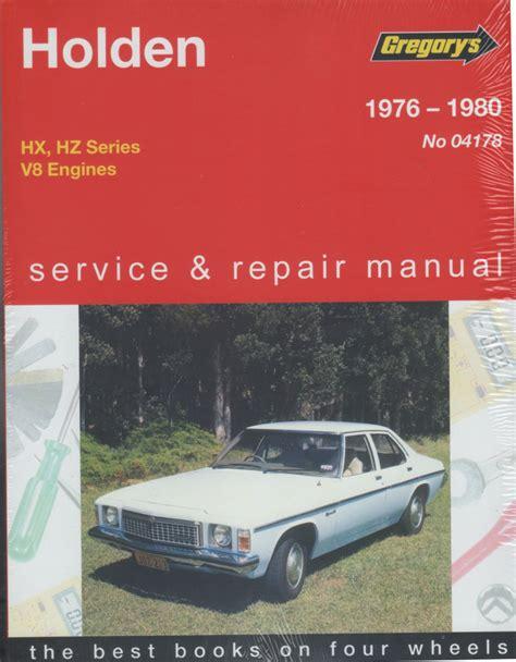 holden service holden hx hz 8 cyl 1976 1980 gregorys service repair