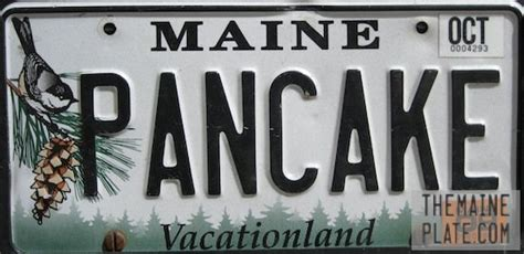 Maine Vanity License Plates by National Pancake Day Celebrated With Vanity License Plate