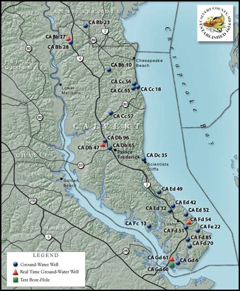 maryland aquifer map ground water in calvert county maryland usgs