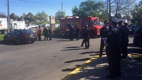 firefighters gather outside benjamin park memorial chapel