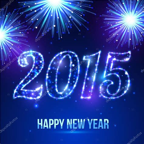 happy new year 2015 celebration concept on beautiful