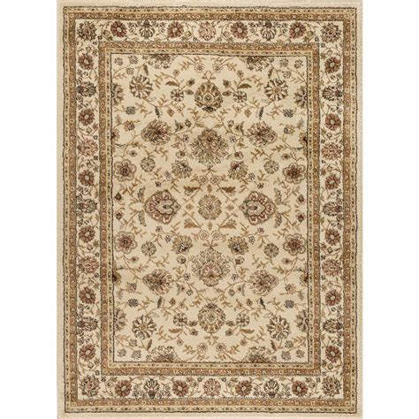 Tayse Rugs Elegance Ivory 7 Ft 6 In X 9 Ft 10 In Area Rugs Home Depot
