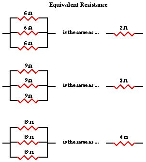 resistor parallel circuit formula parallel circuits
