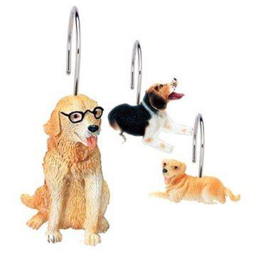 dog shower curtain hooks ridiculously cute shower curtain hooks petslady com